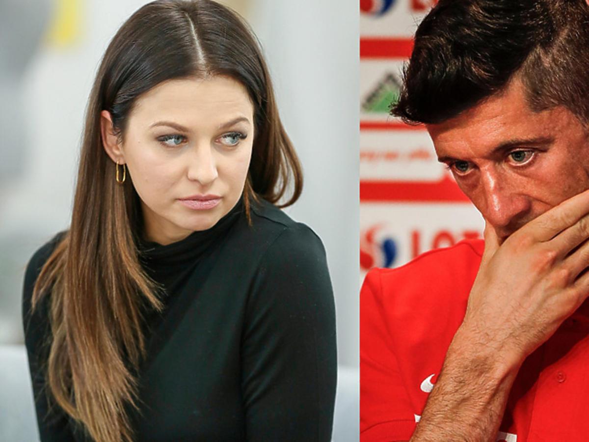 Smutna Anna Lewandowska, załamany Robert Lewandowski po meczu z Kolumbią