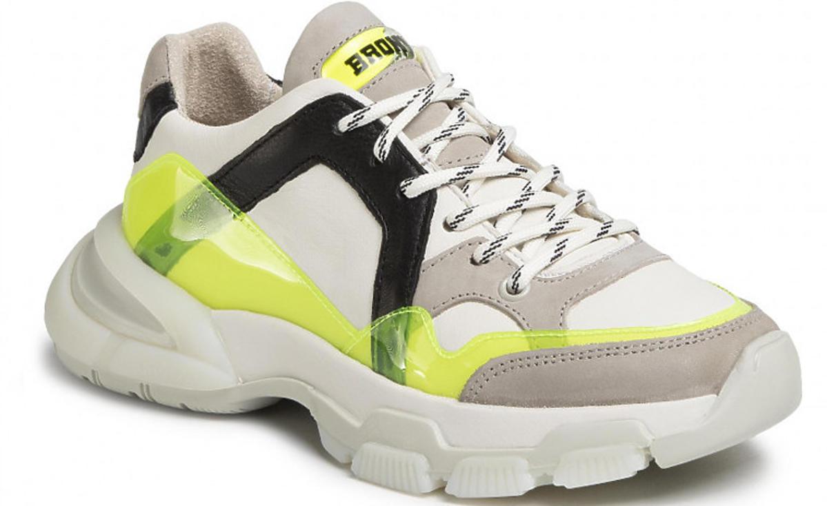 Sneakersy BRONX biało-żółte