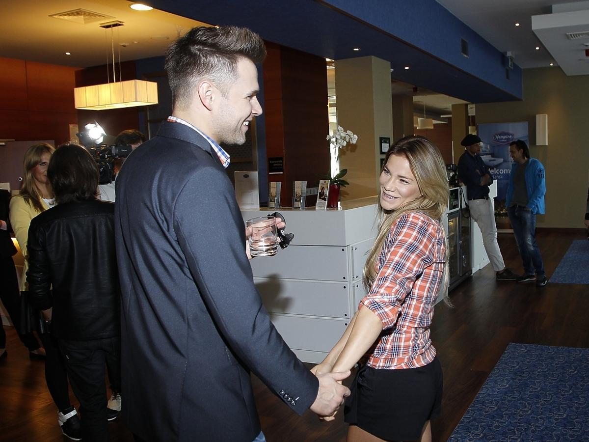 Sonia Bohosiewicz i Marek Kaliszuk na konferencji przeciwko białaczce
