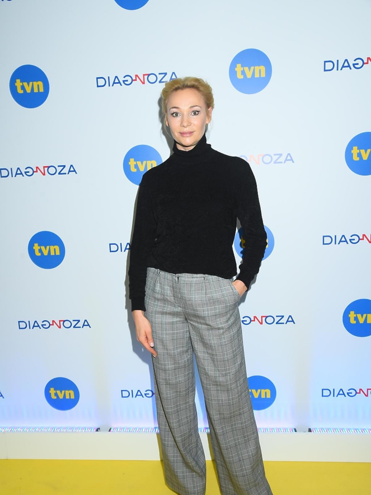 Sonia Bohosiewicz na konferencji prasowej serialu