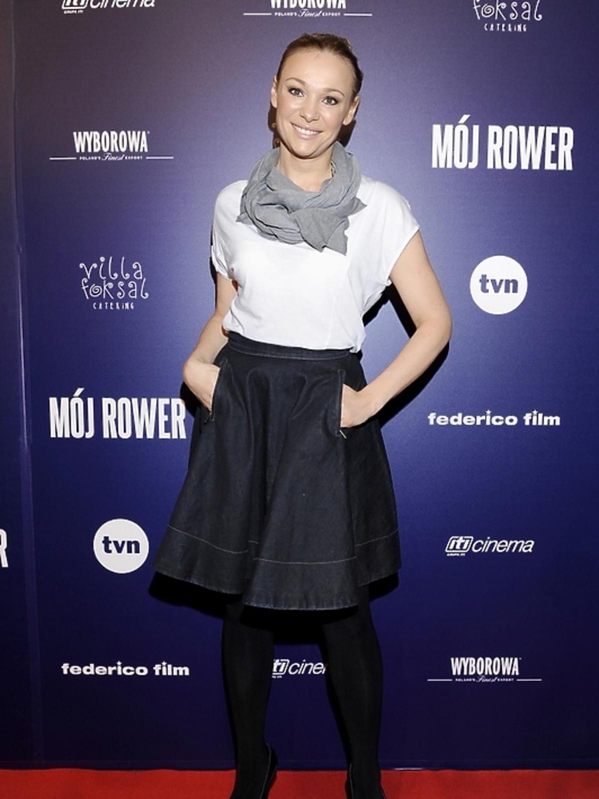 Sonia Bohosiewicz na premierze filmu