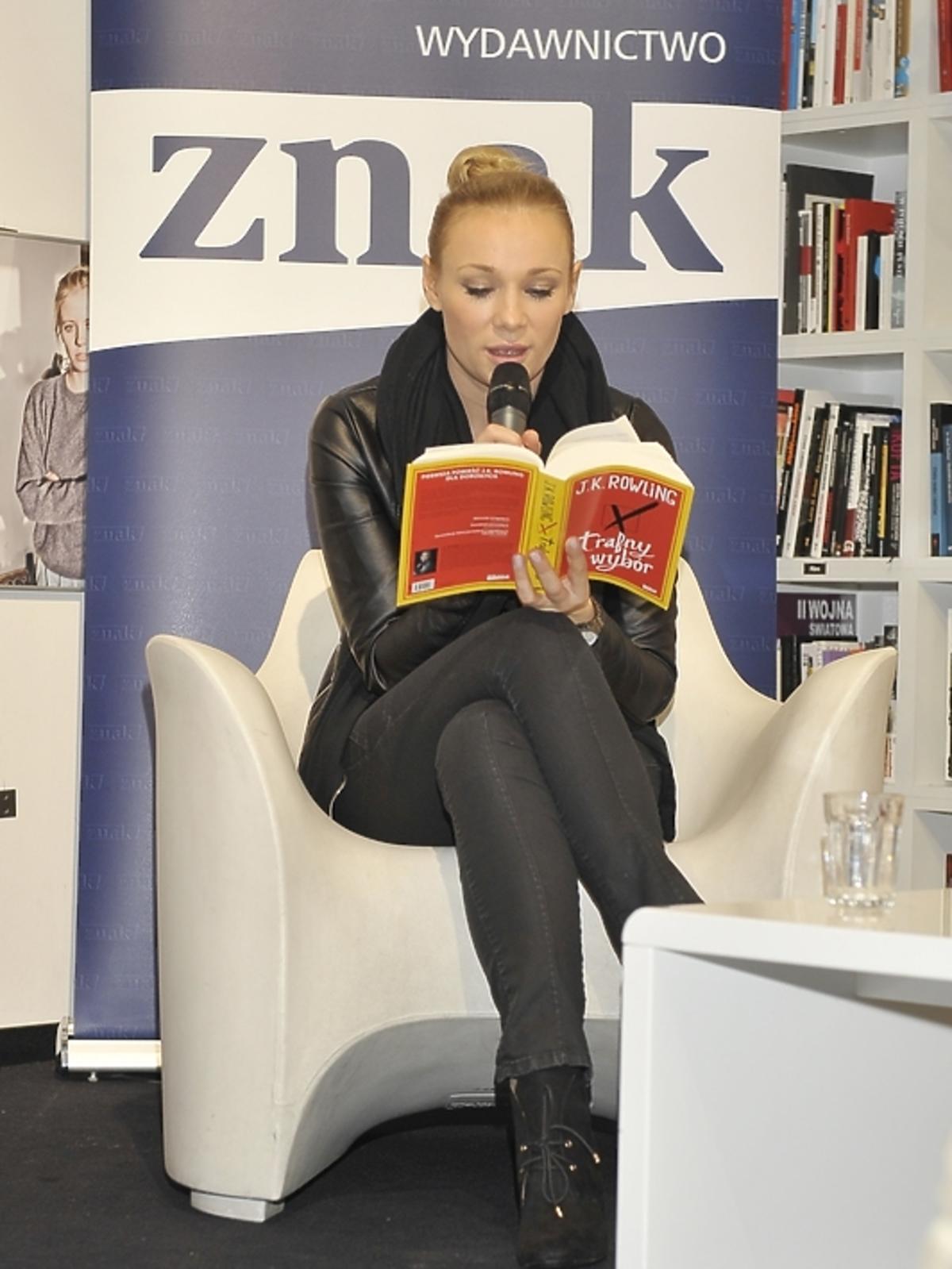Sonia Bohosiewicz na premierze książki J.K.Rowling