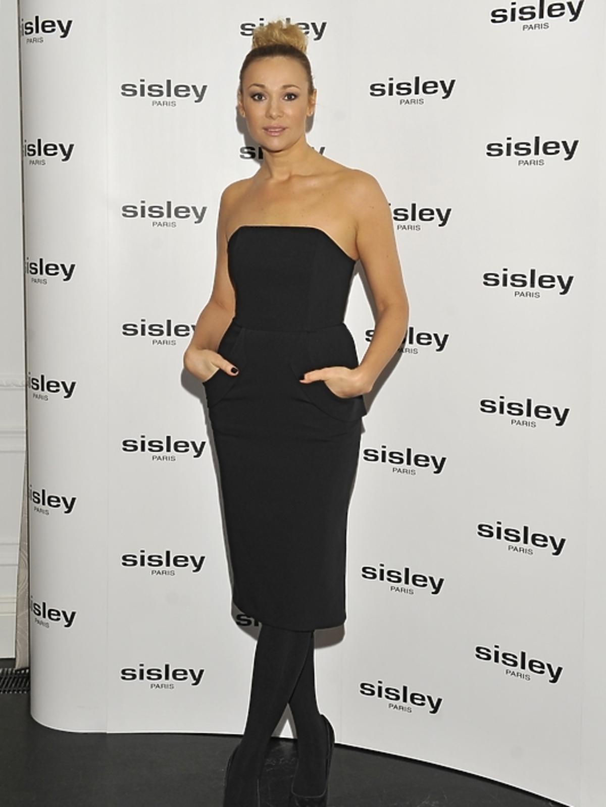 Sonia Bohosiewicz na prezentacji kosmetyków Sisley