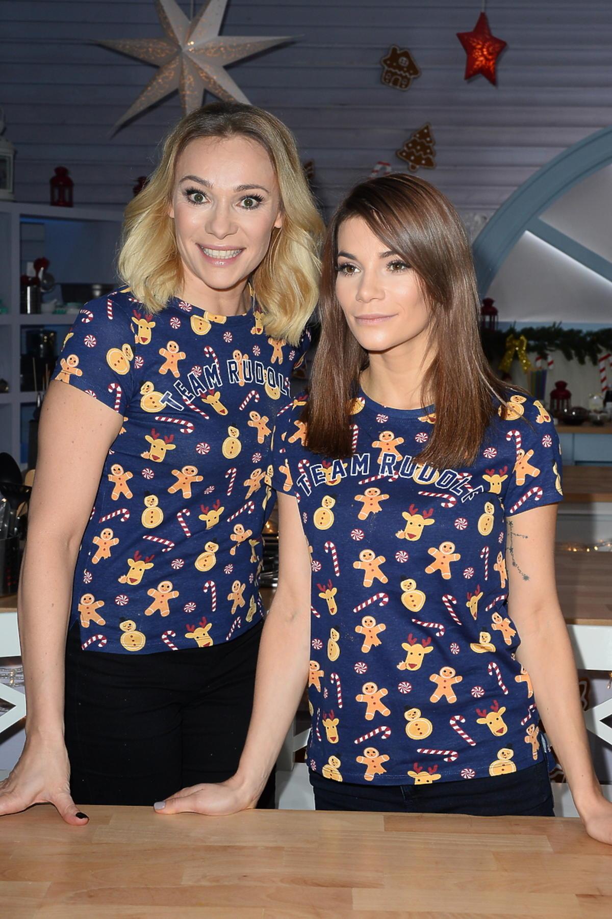 Sonia i Maja Bohosiewicz na planie świątecznego odcinka