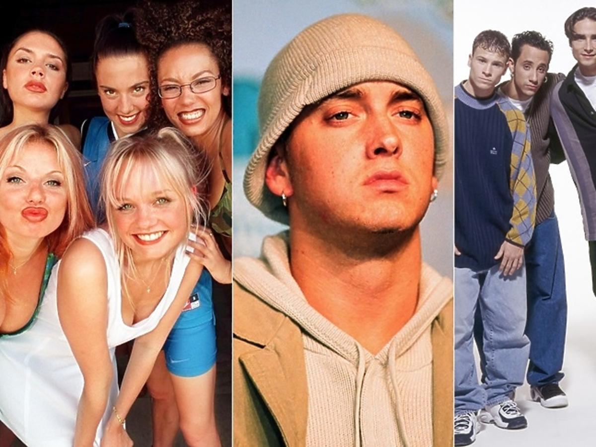 Spice Girls, Eminem, Backstreet Boys