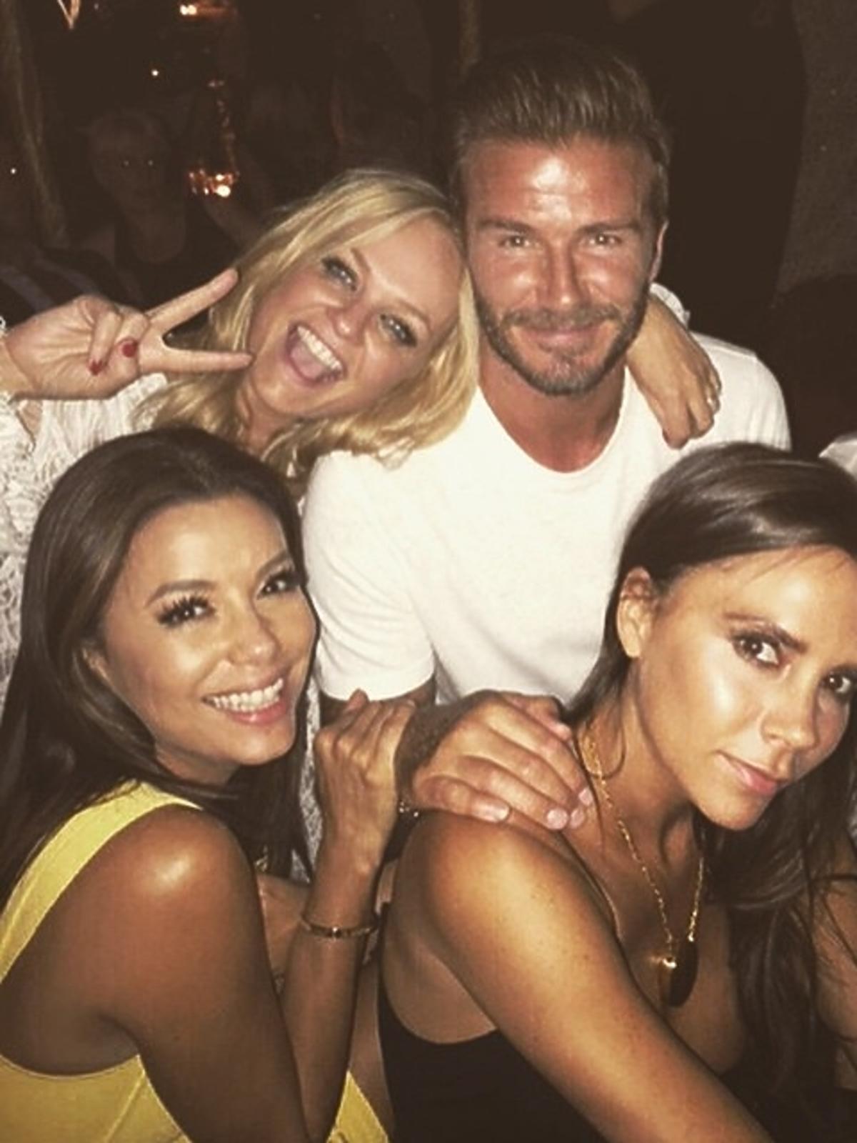 Spice Girls na imprezie Davida Beckhama