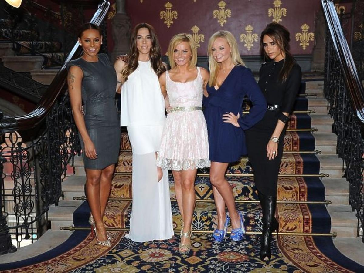 Spice Girls na premierze londyńskiego musicalu Viva Forever poświęconego ich twórczości