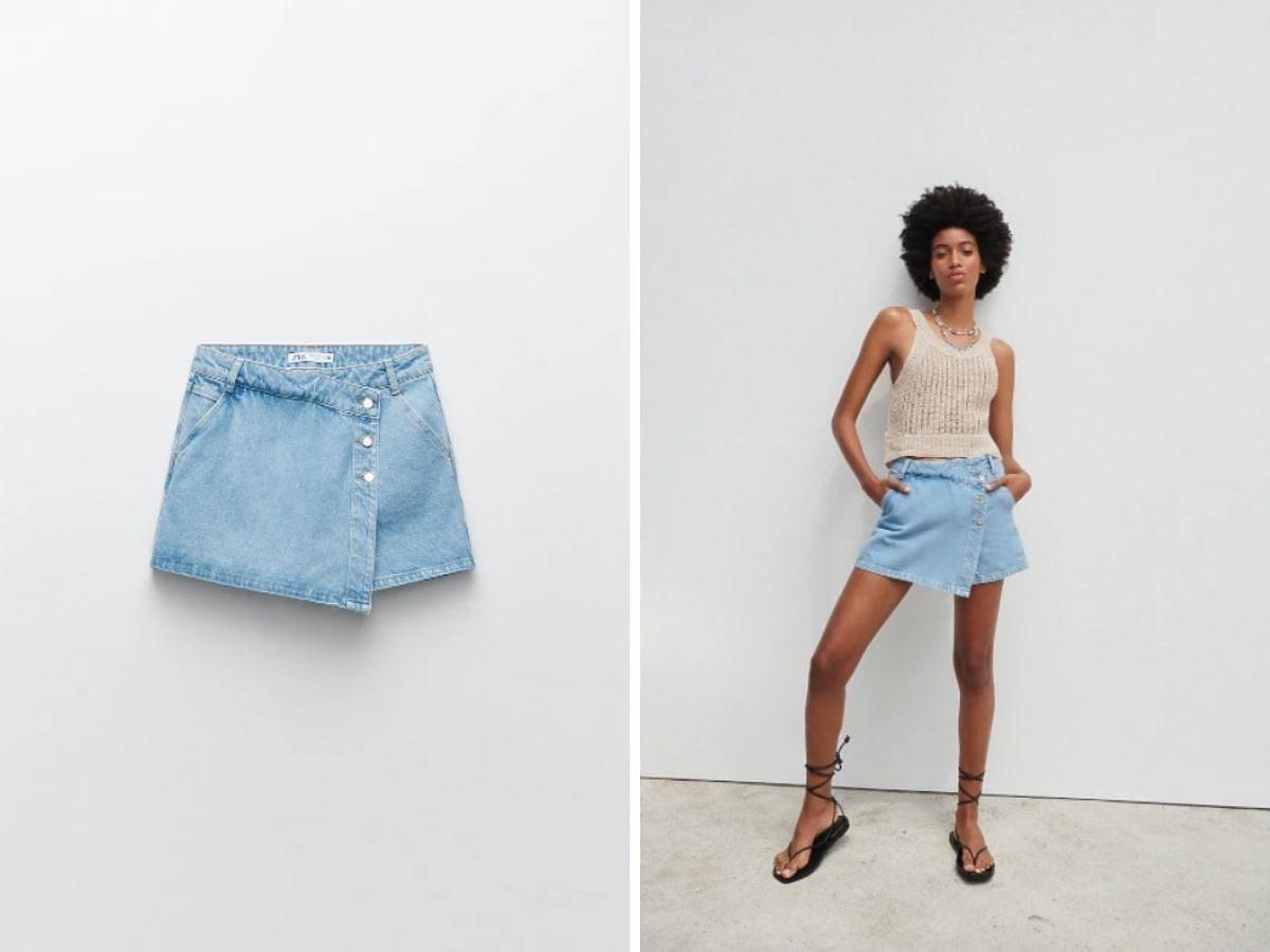 Spódnica jeansowa Zara
