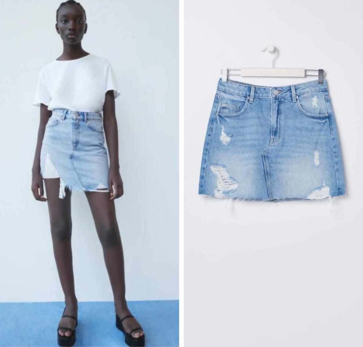 Spódnica jeansowa Zara 89 zł