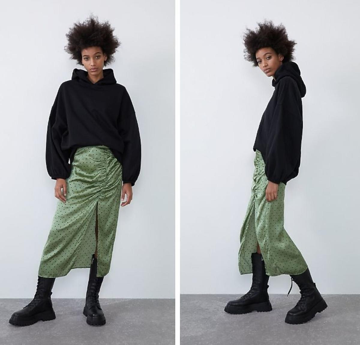 spódnica w kropki Zara