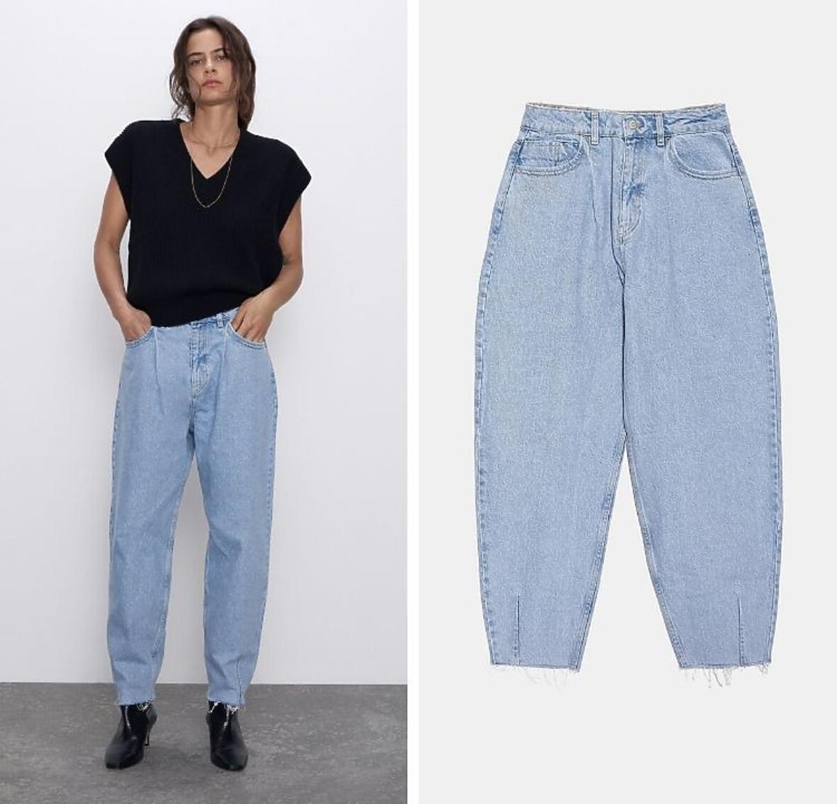 Spodnie dżinsowe slouchy Zara