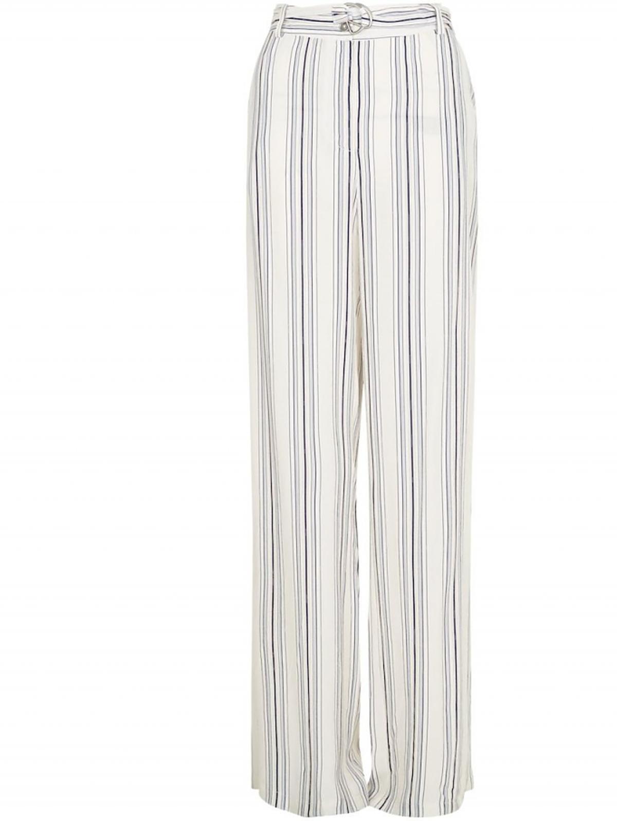 Spodnie w czarni-białe paski