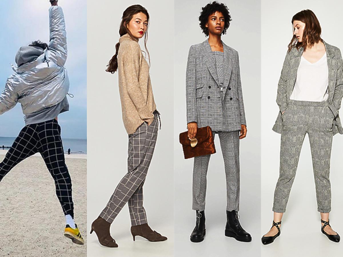 Spodnie w kratę shopping