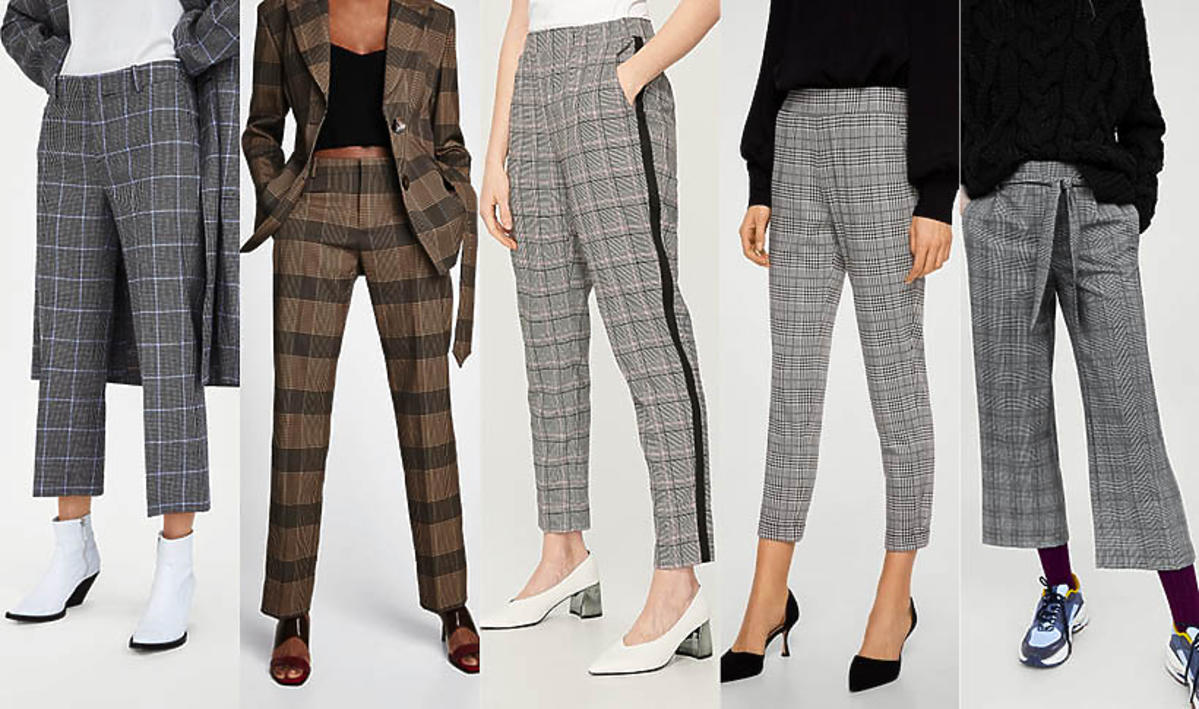 Spodnie w kratę z sieciówek