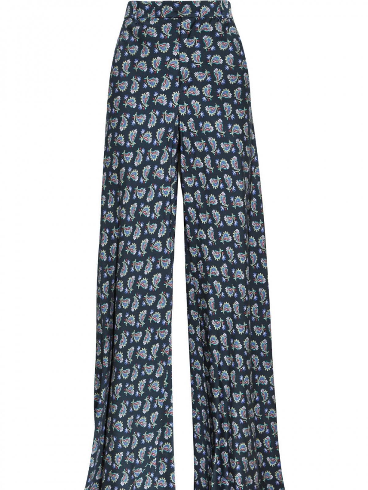 Spodnie z kolorowe printy z szerokimi nogawkami