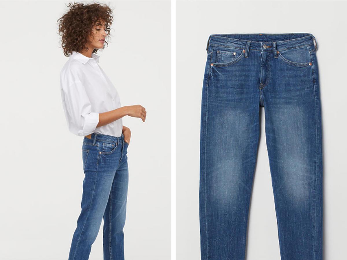 Spodnie z postrzępionymi mankietami H&M cena 129 zł