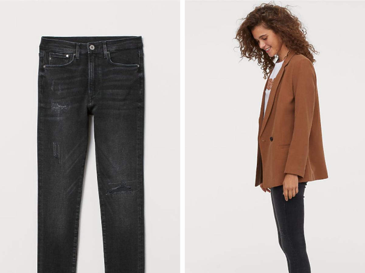 Spodnie z postrzępionymi mankietami H&M cena 199