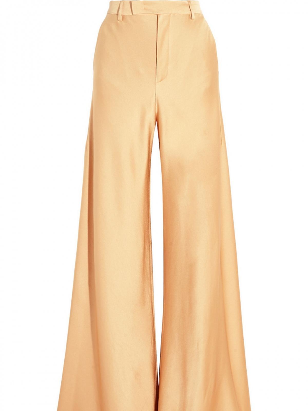 spodnie z szerokimi nogawkami w miodowym kolorze