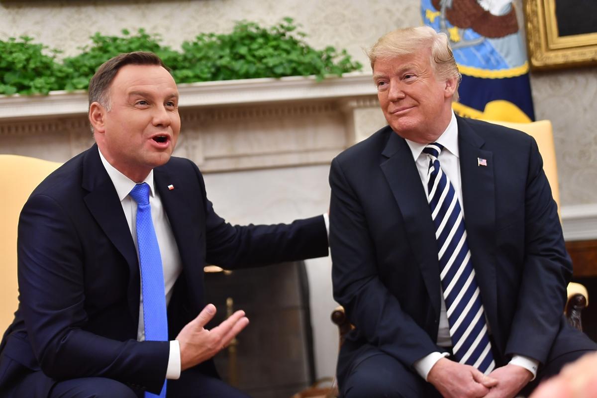 Spotkanie prezydenta Andrzeja Dudy z Donaldem Trumpem