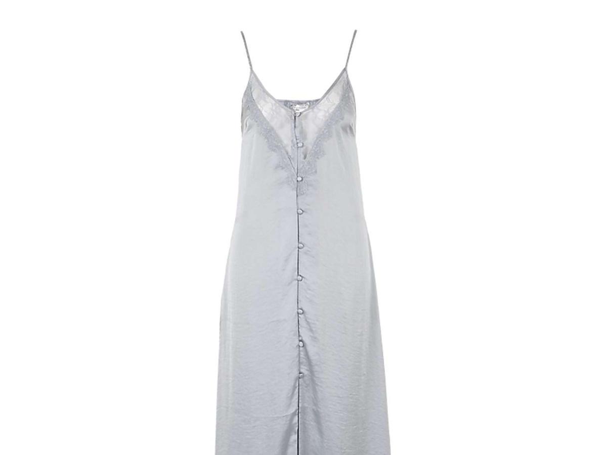 Srebrna bieliźniana sukienka