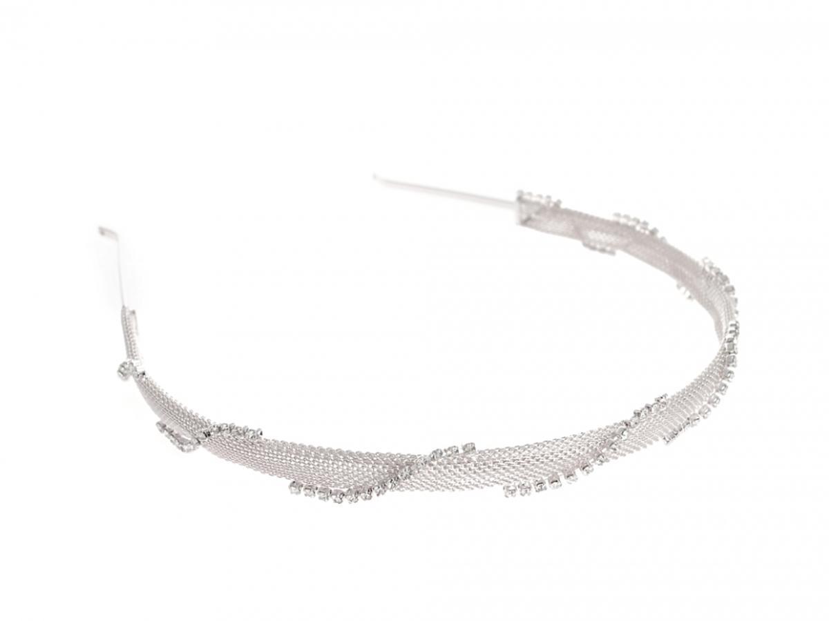 Srebrna opaska z perełkami