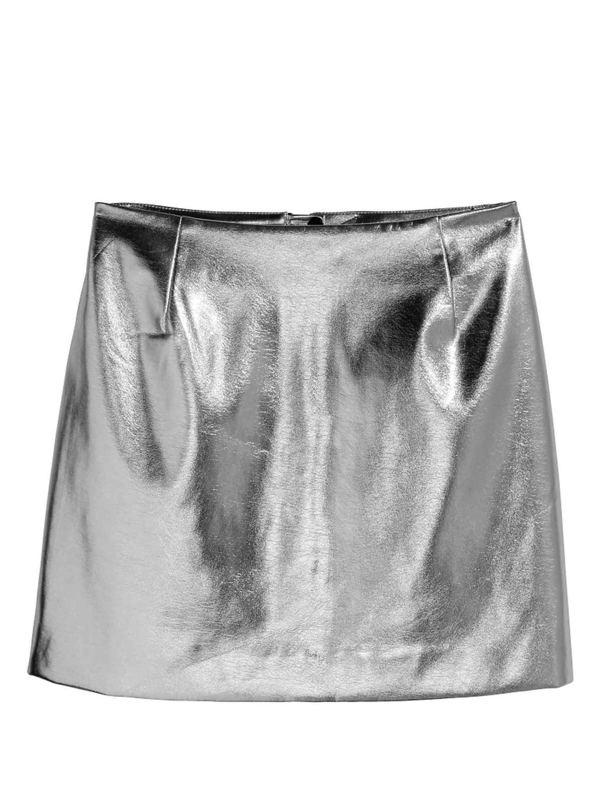 Srebrna spódnica,  H&M, przeceniona z 99,90 zł na 59,90 zł