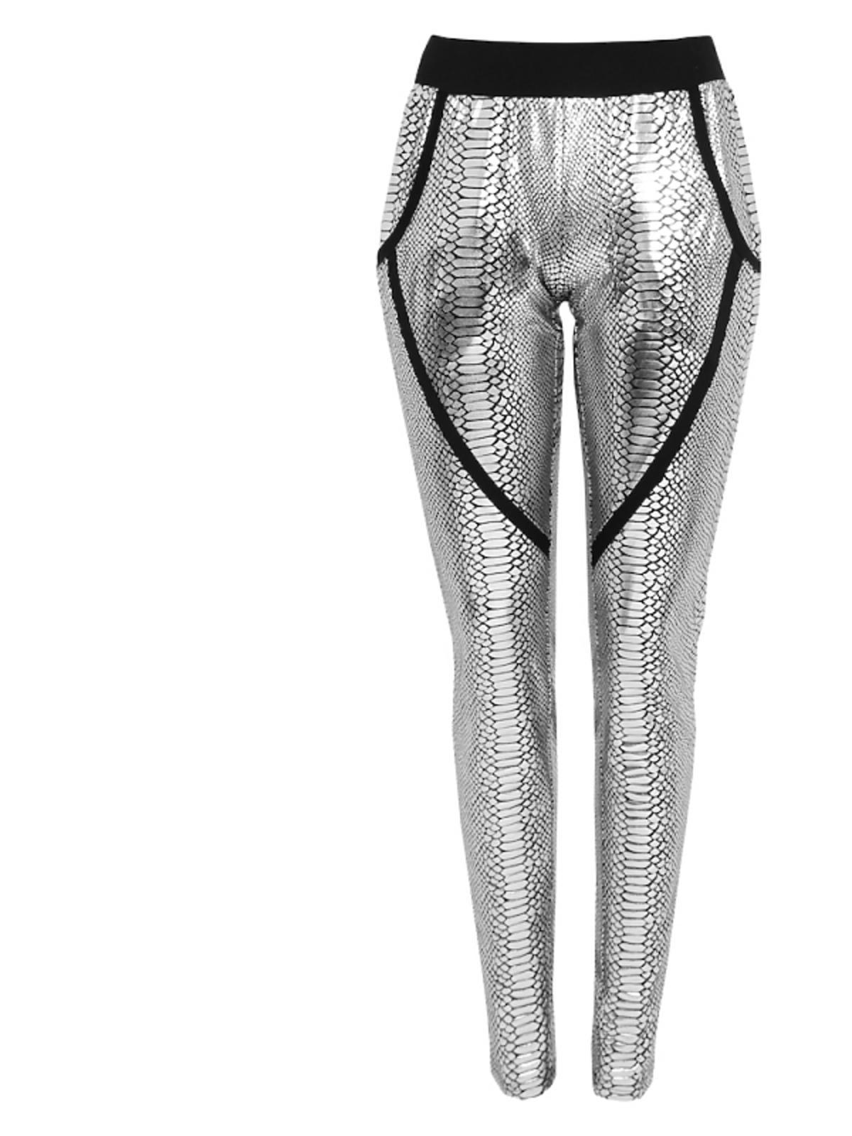srebrne legginsy