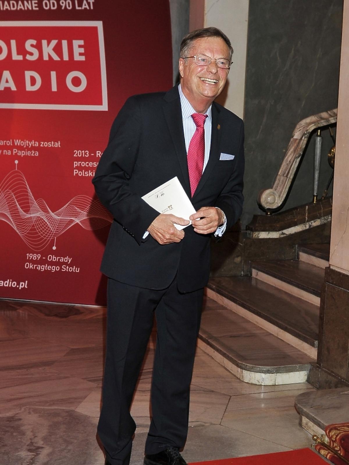Stefan Fredmann na jubileuszowej gali 90-lecia Polskiego Radia