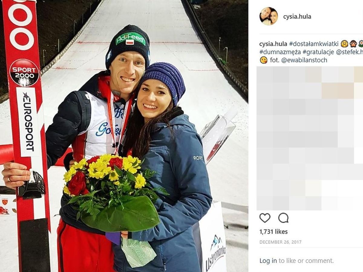 Stefan Hula z żoną