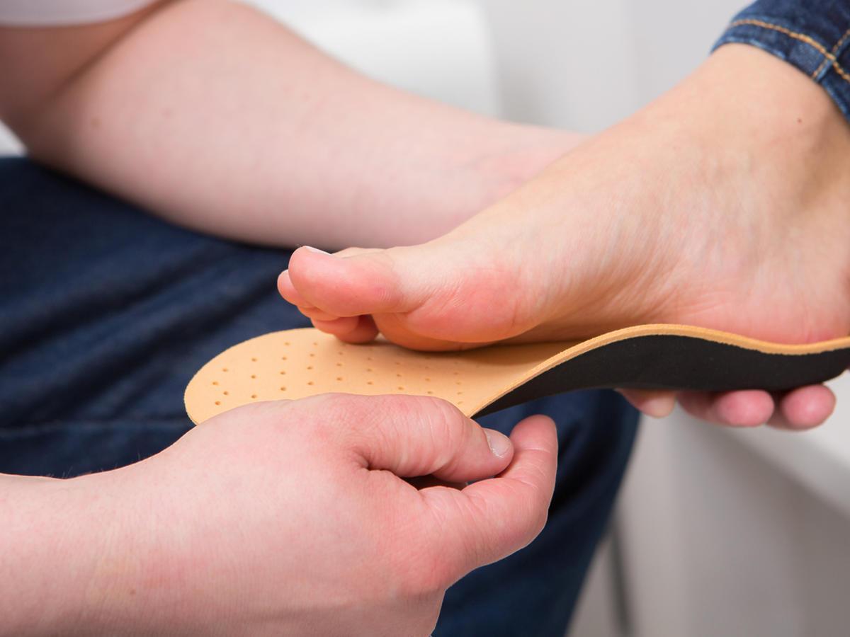 stopa i wkładka ortopedyczna