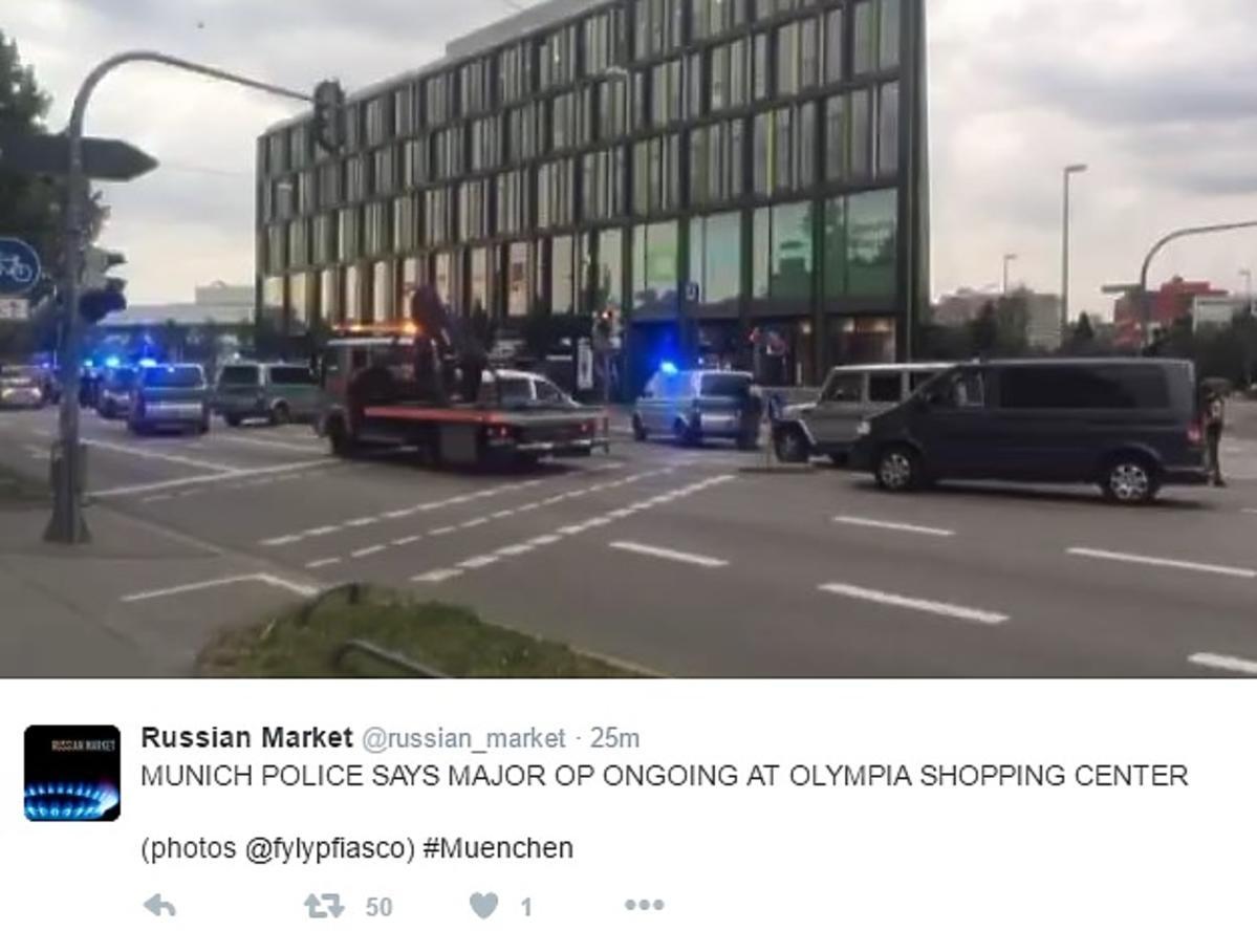 Strzelanina w centrum handlowym w Monachium