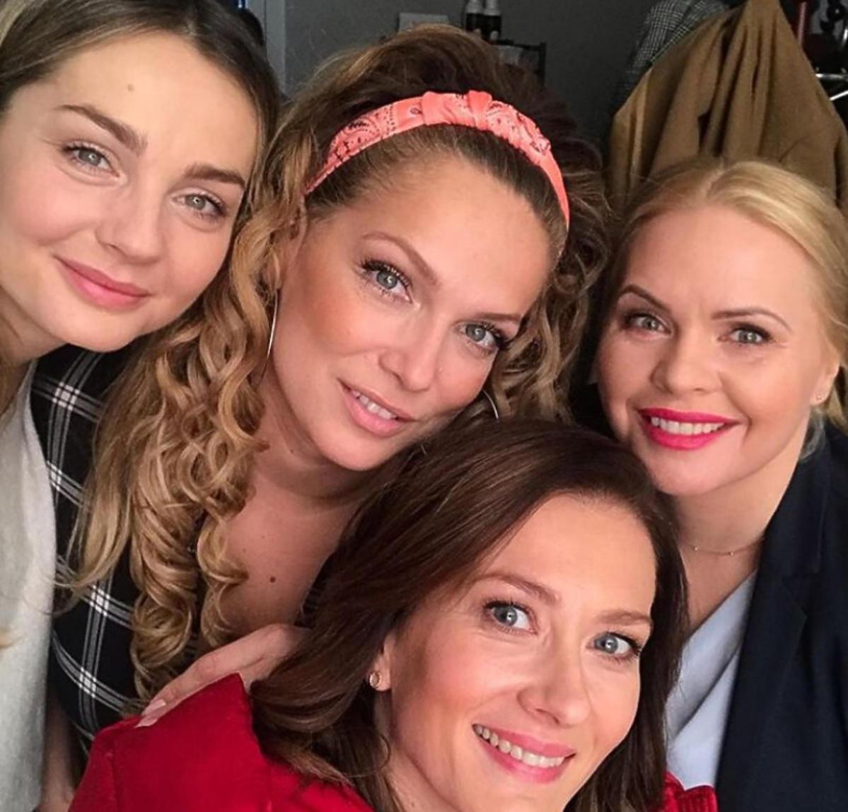 Stużyńska, Liszowska, Sokołowska i Socha na planie Przyjaciółek