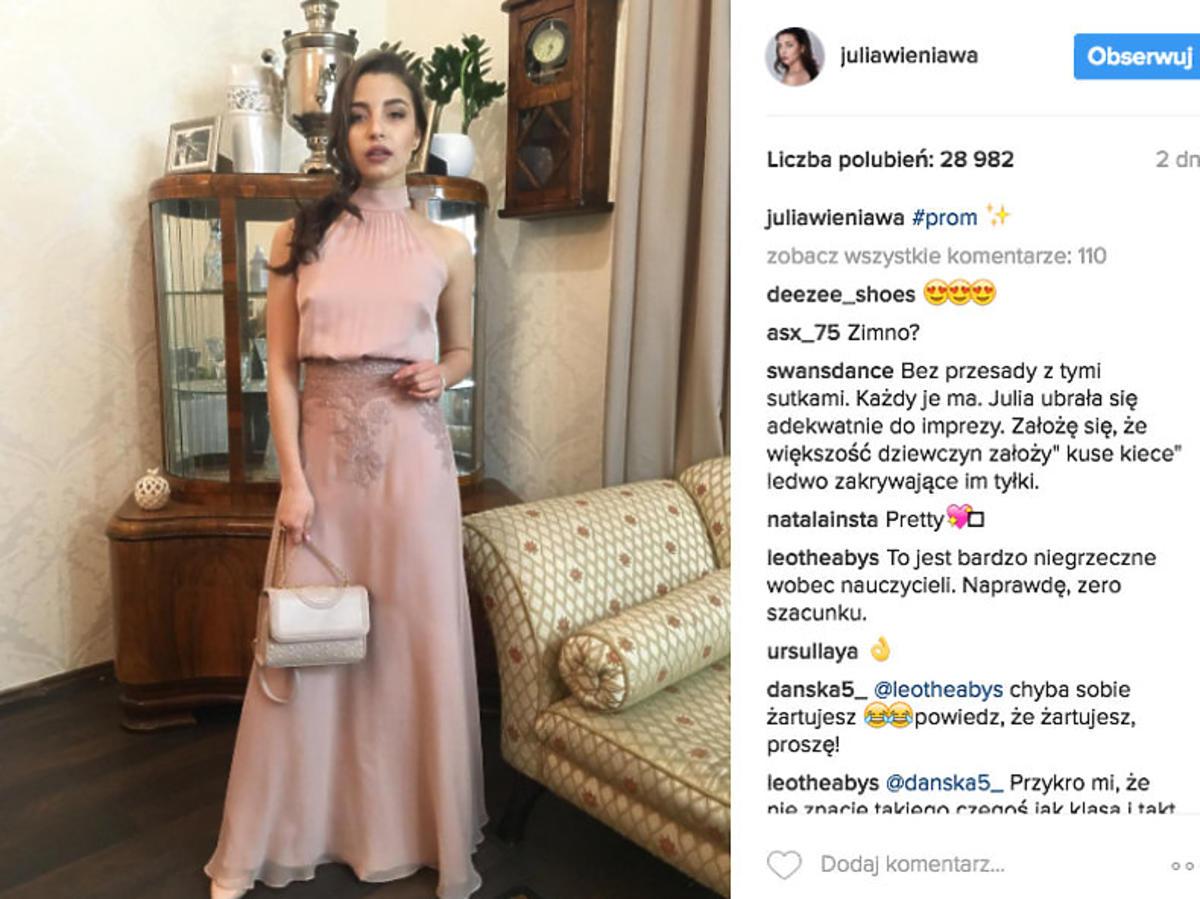 Sukienka Julii Wieniawy na studniówce