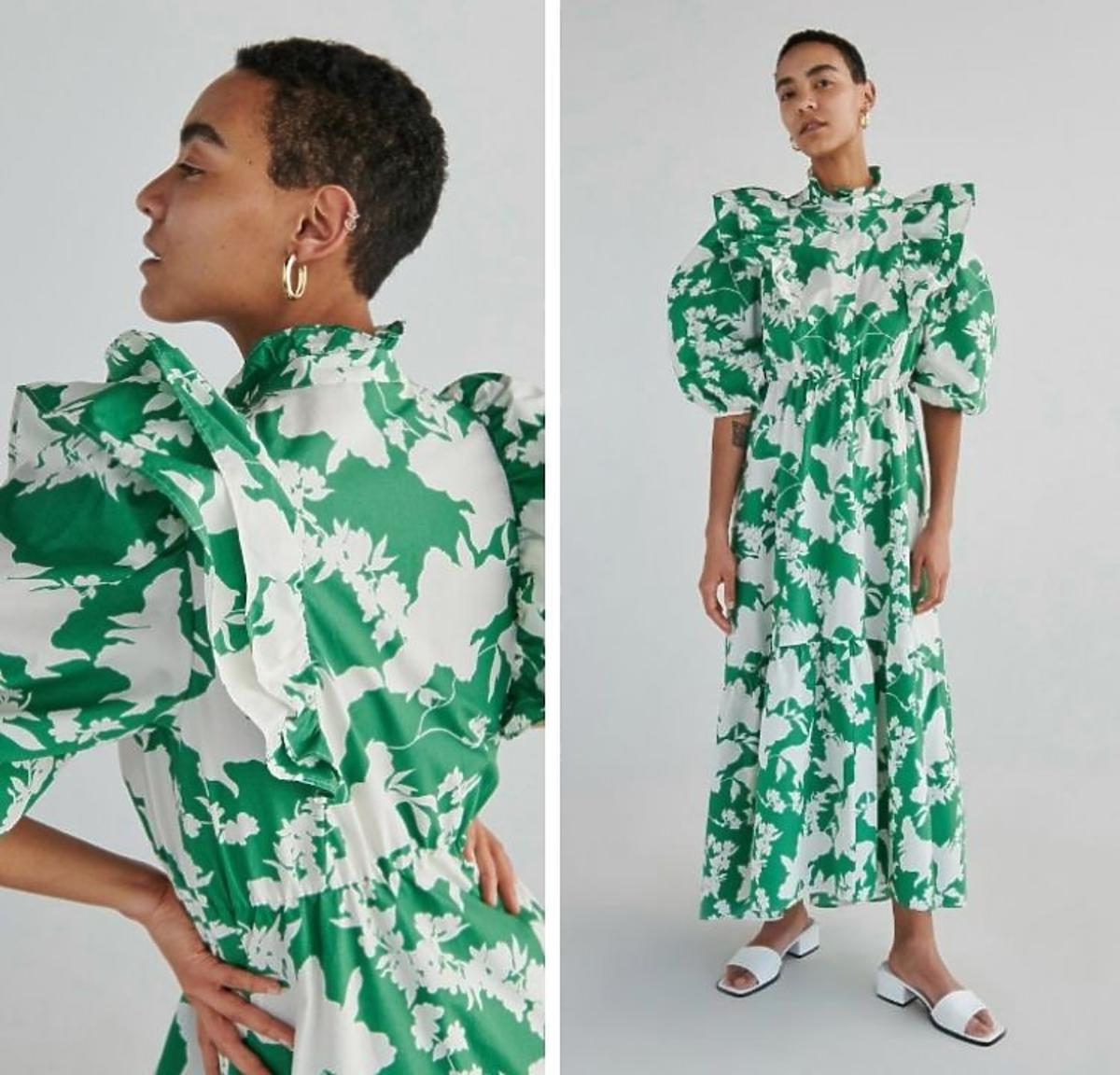 Sukienka maxi w kwiaty Reserved