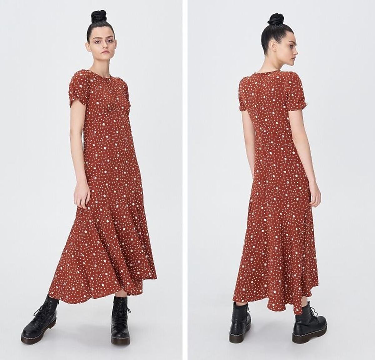 Sukienka maxi w kwiaty Sinsay