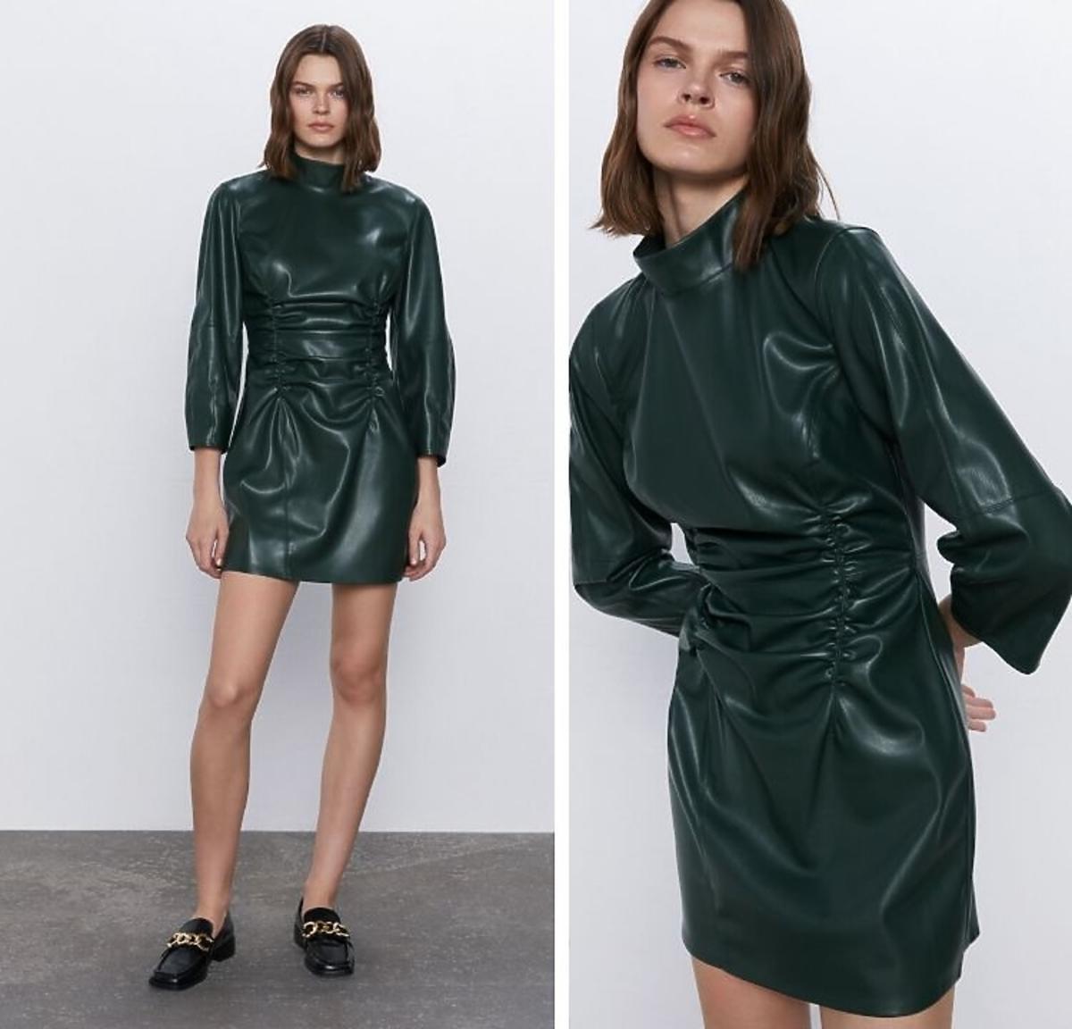 sukienka skórzana Zara