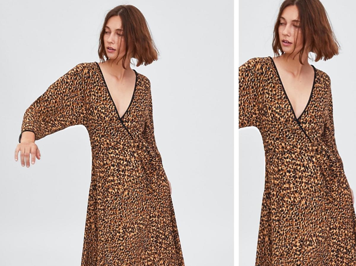 sukienka w centki Zara