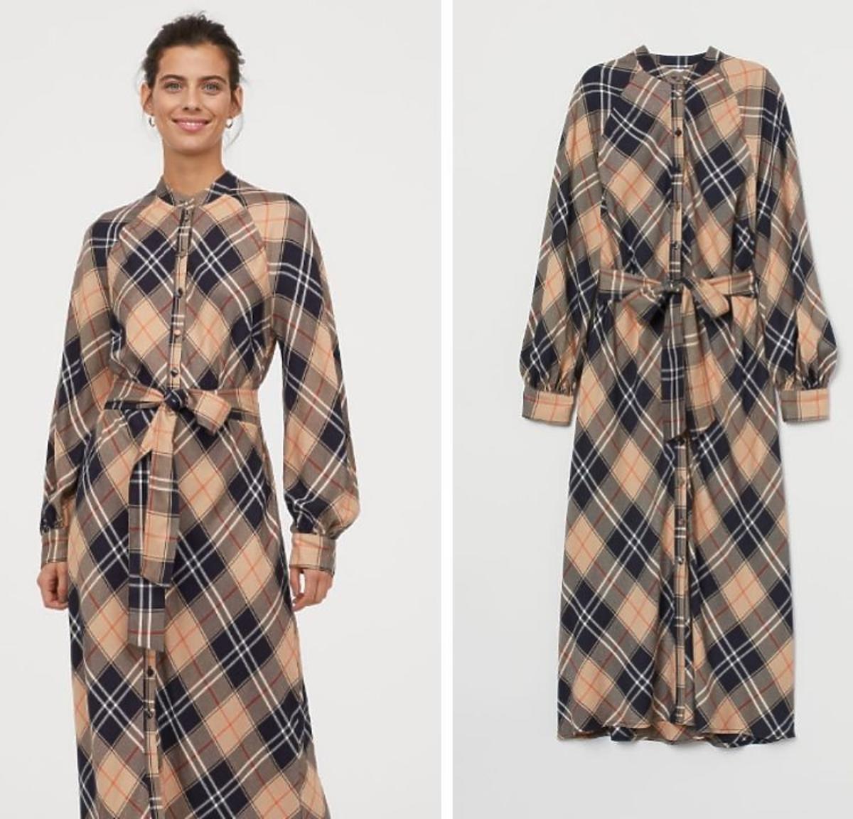 sukienka w kratę H&M