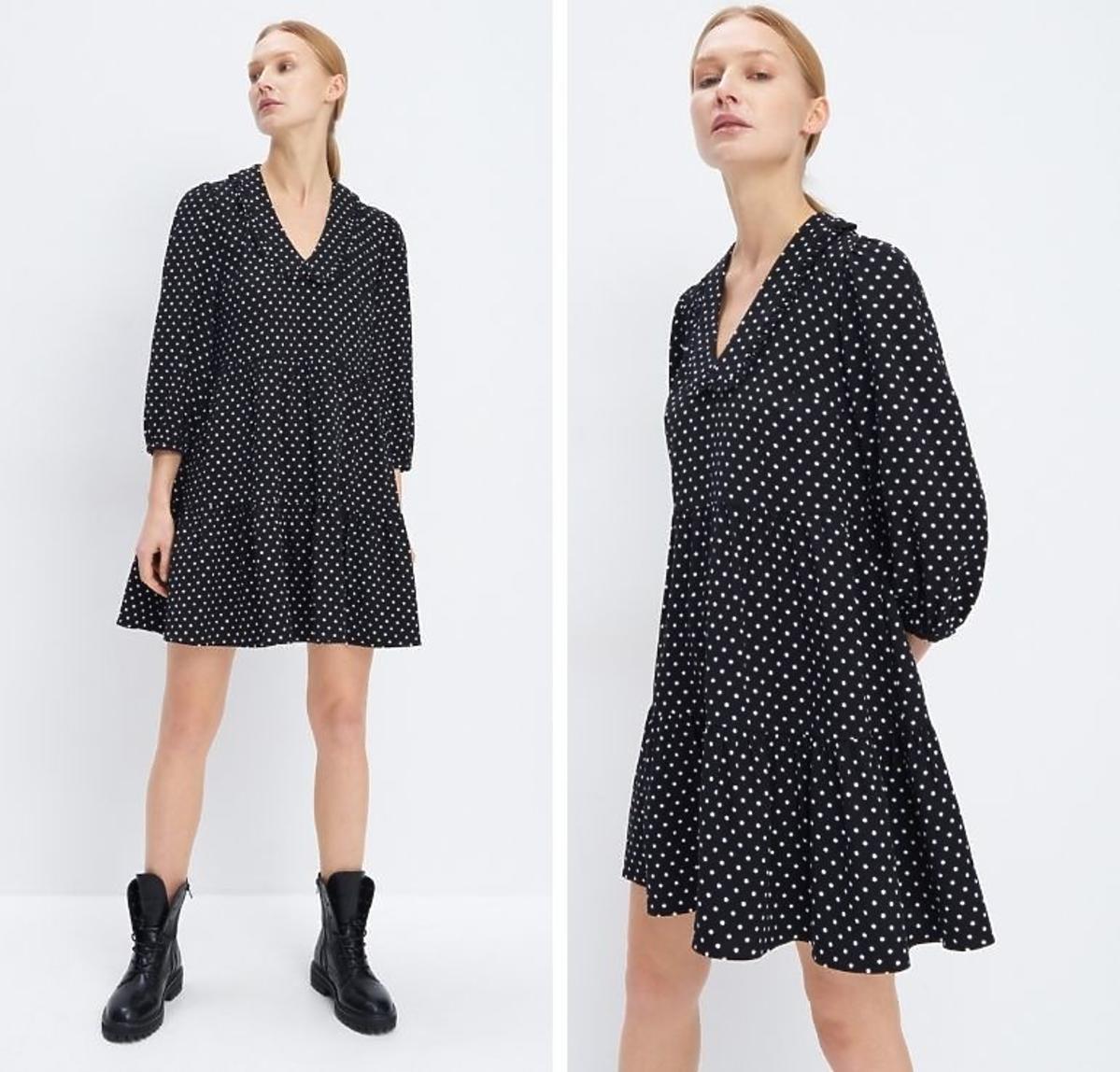 Sukienka w kropki na wiosnę Mohito cena 139 zł
