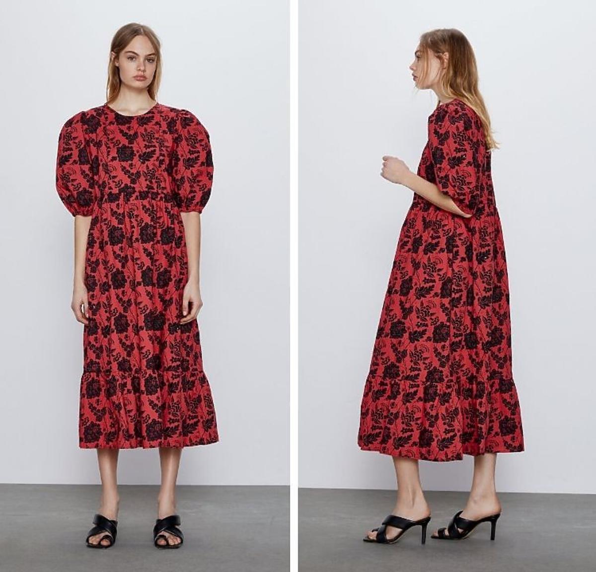 Sukienka w kwiaty wyprzedaż 2020 Zara