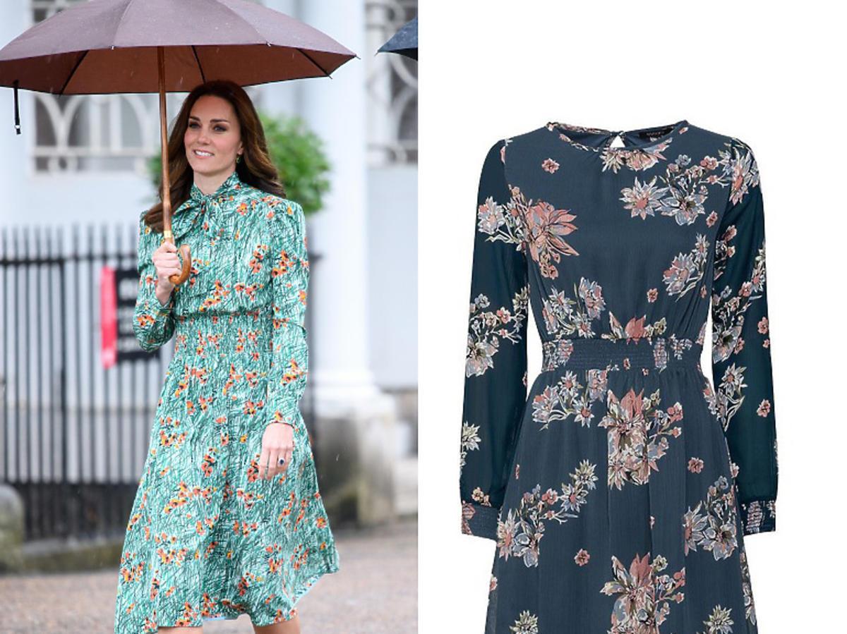 Sukienka z Lidla w kwiaty za 49,99 zł