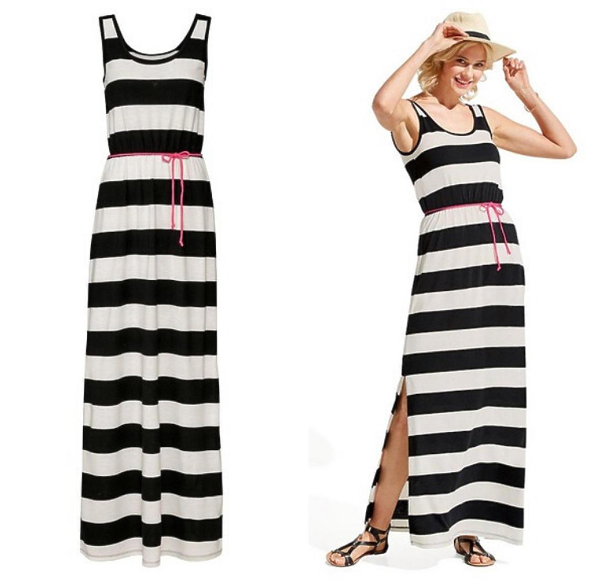 Sukienka z Lidla w paski