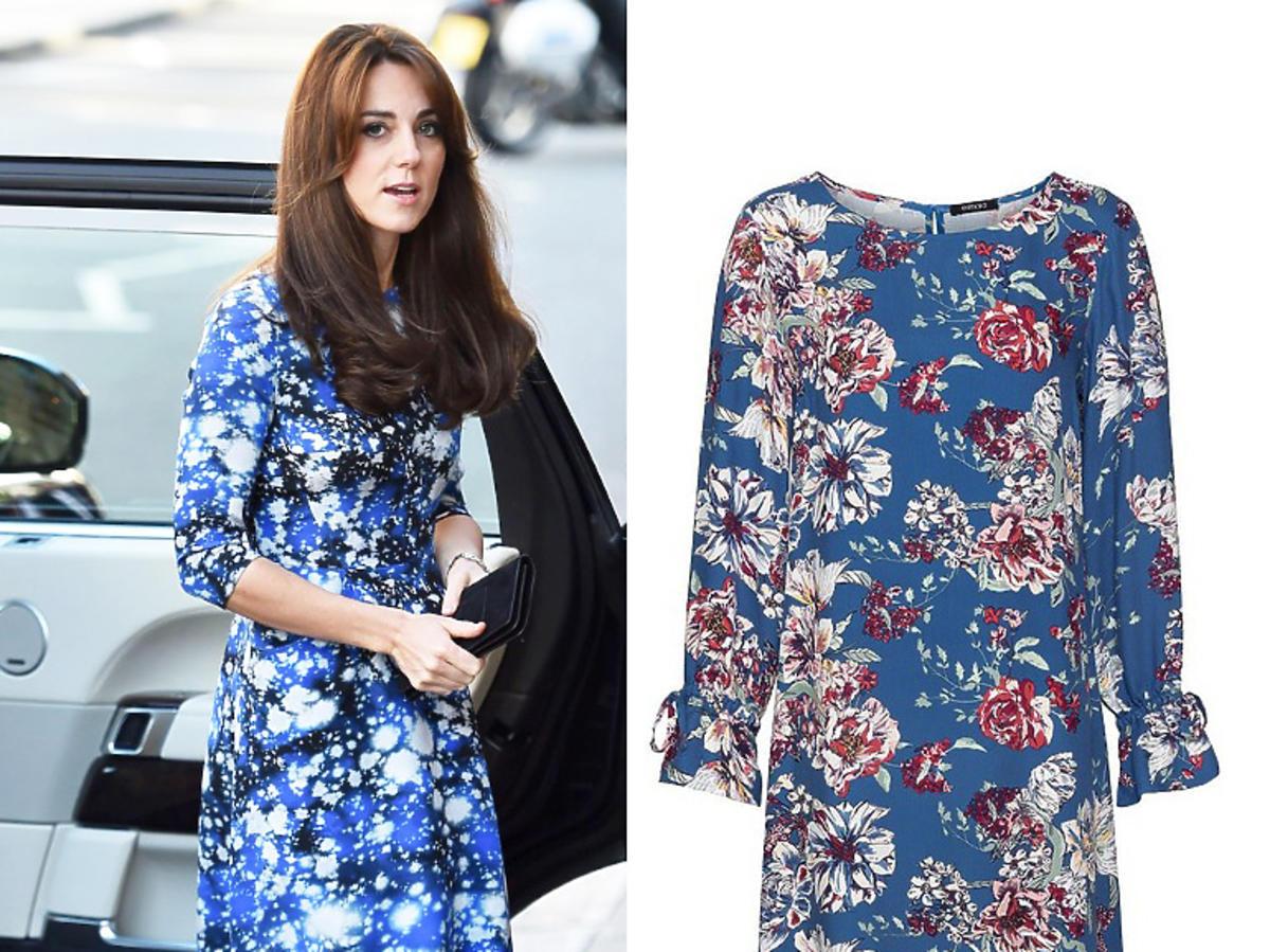Sukienka z Lidla we wzór kwiatów w stylu księżnej Kate