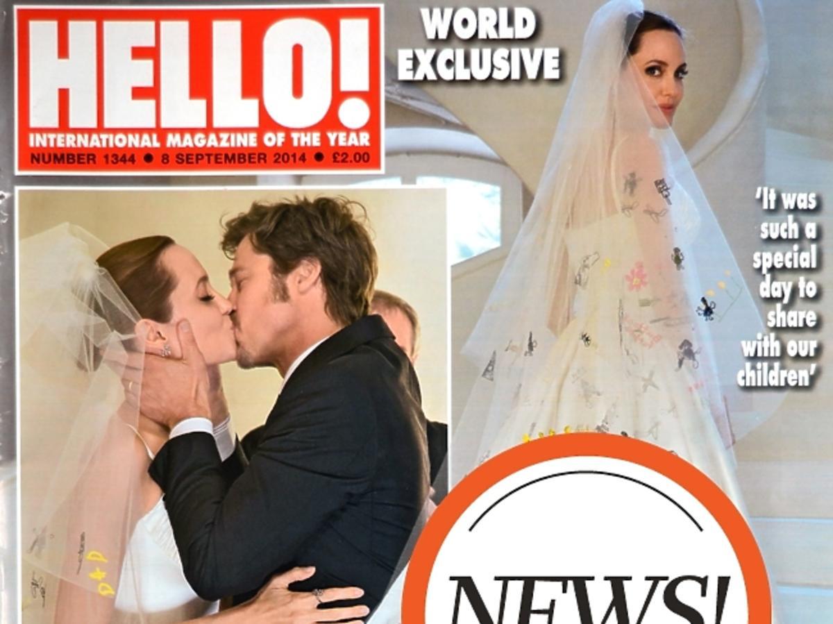 Suknia ślubna Angeliny Jolie
