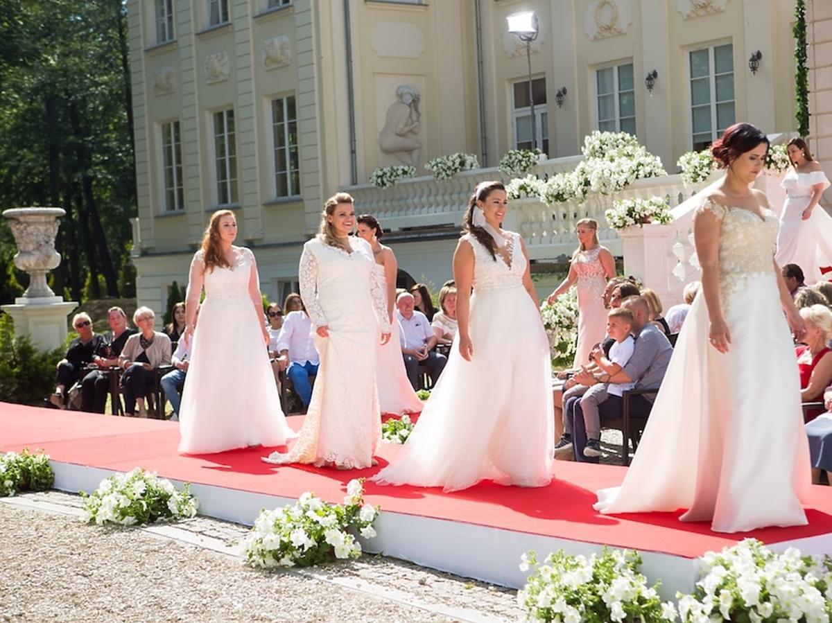 Supermodelka plus size pokaz sukien ślubnych Violi Piekut