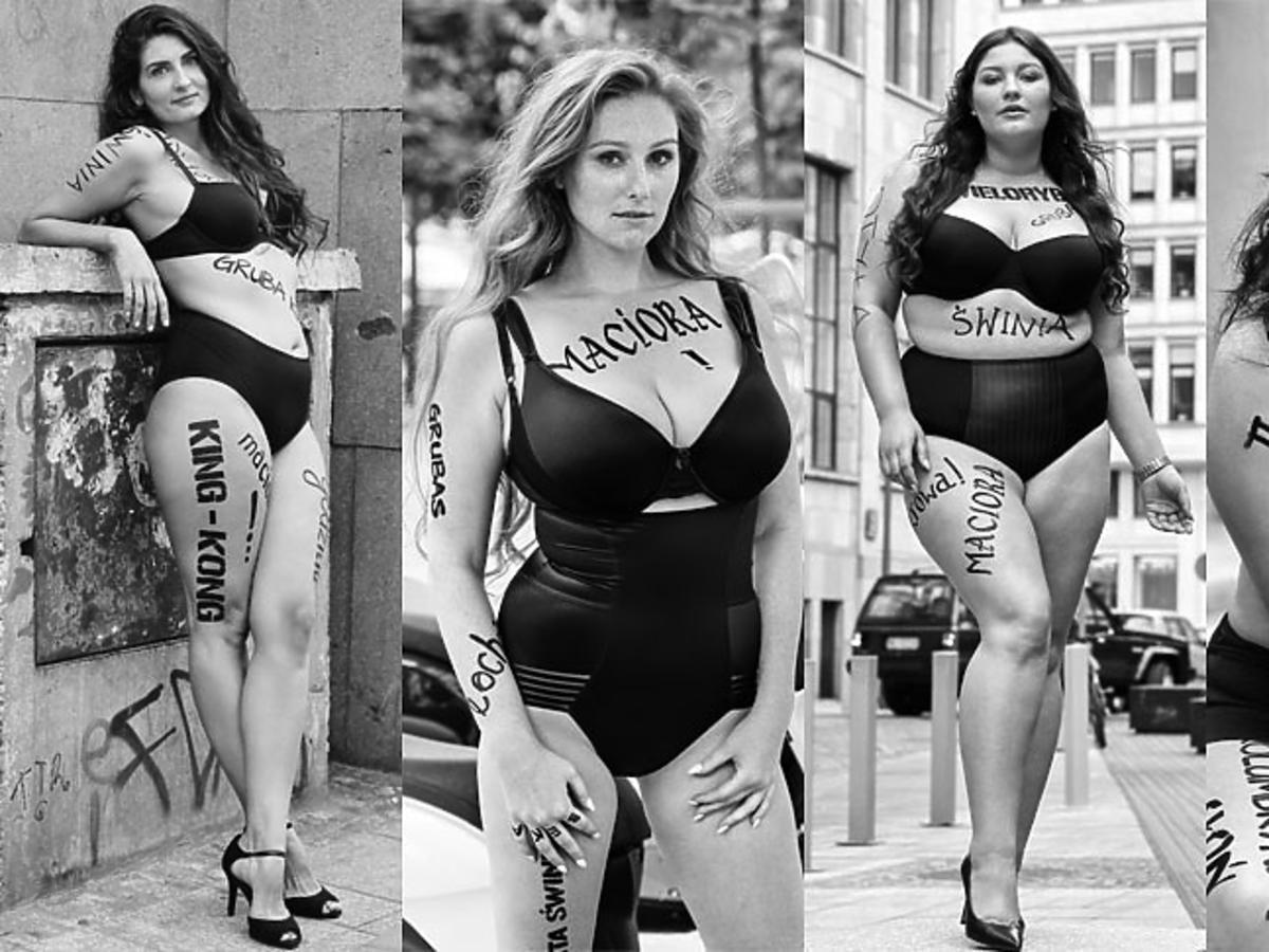 Supermodelka Plus Size sesja z oblegami