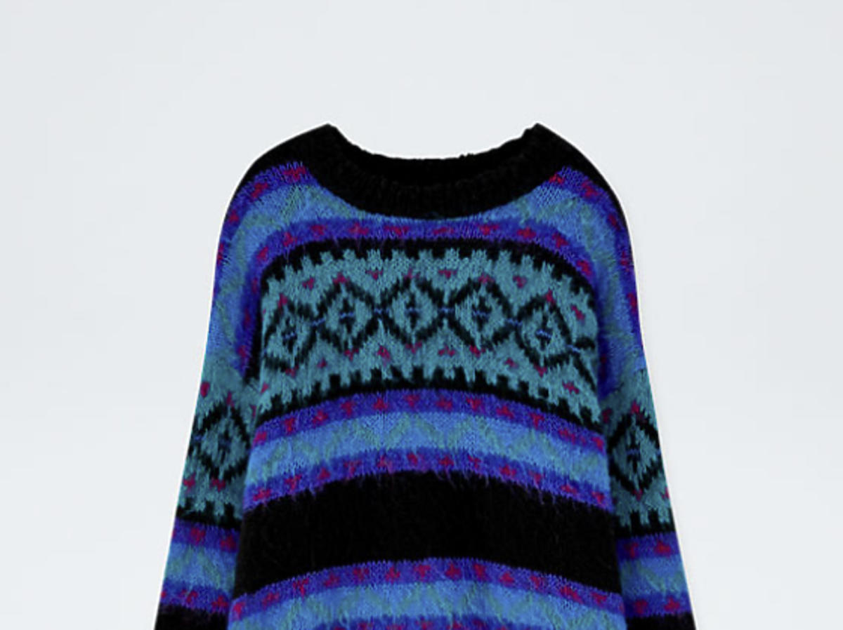 sweter we wzory Pull&Bear
