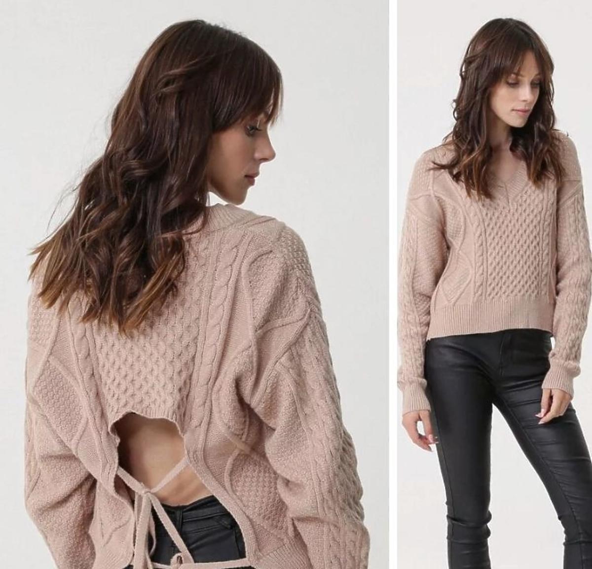Sweter wiązany na plecach z Born2be