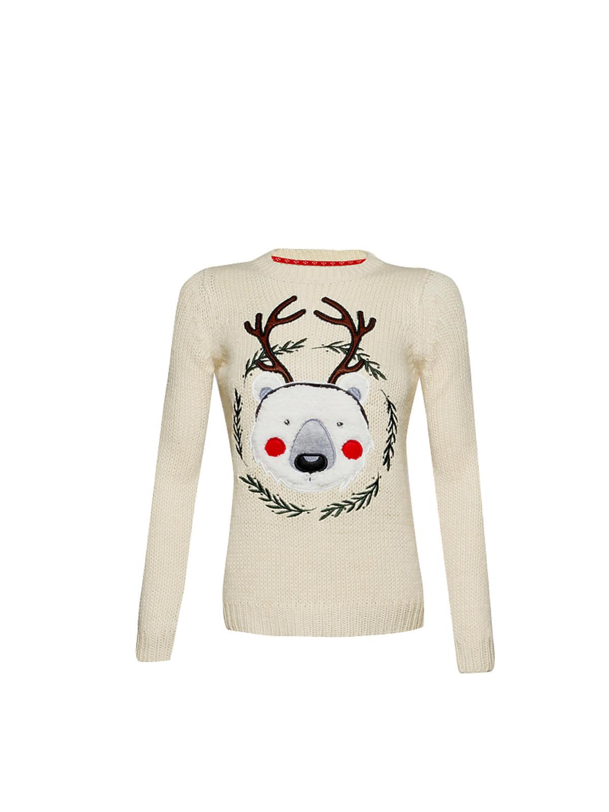 Świąteczny sweter z misiem-reniferem House