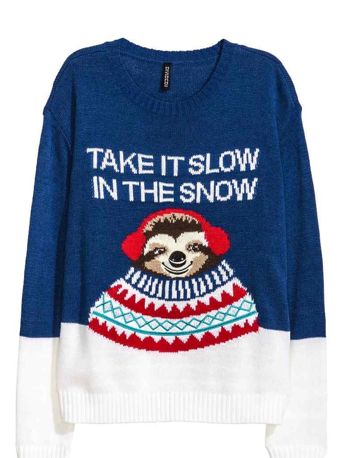 Świąteczny sweter z motywem H&M